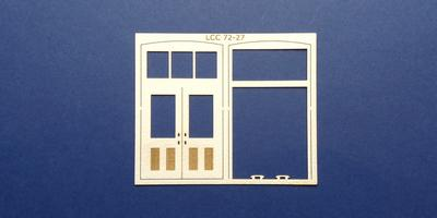 LCC 72-27 O gauge double square door with transom type 1